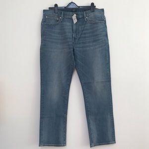 J. Crew Straight Fit Flex Jeans Blue New 36 x 30